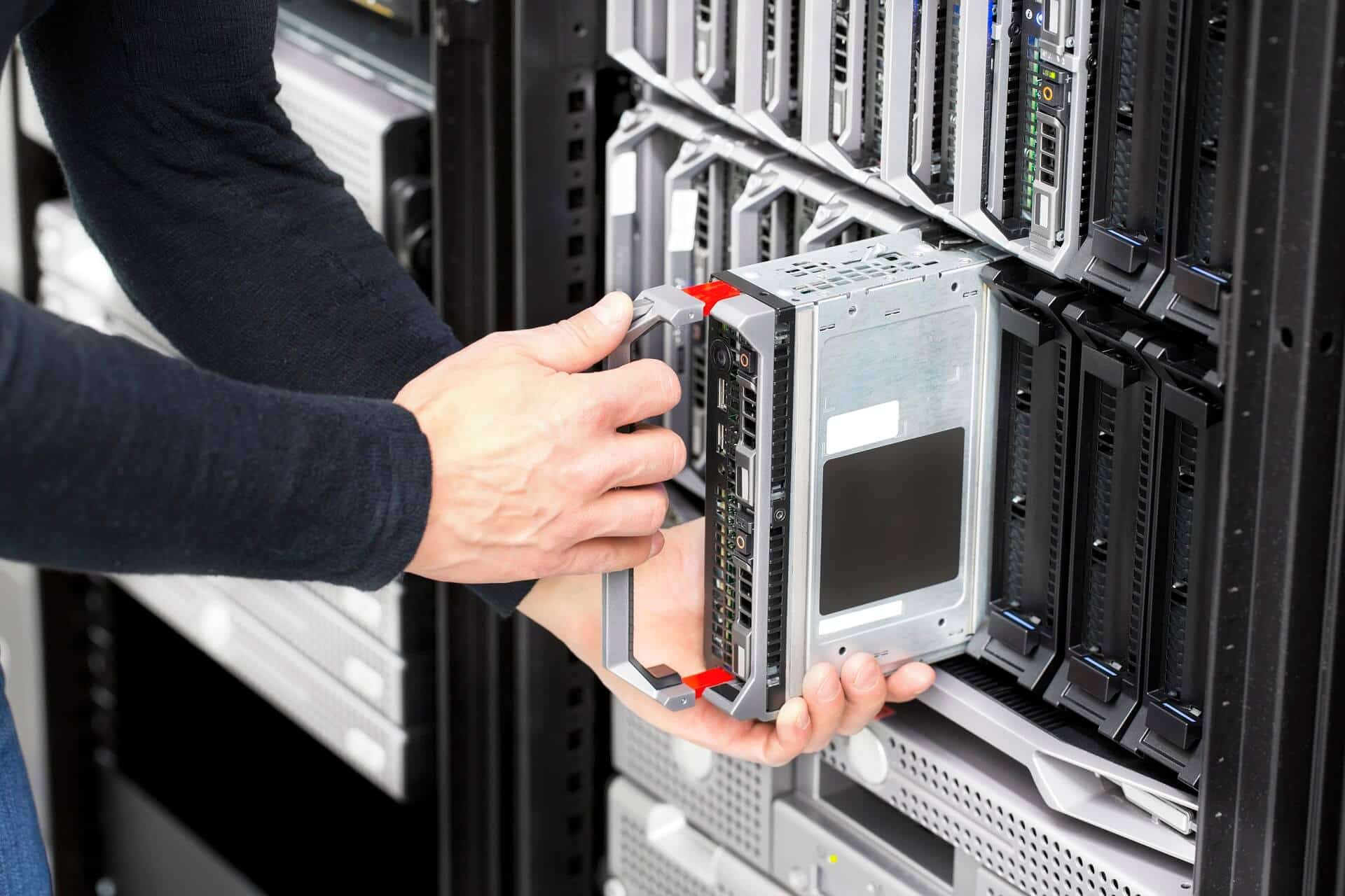 Blade server installation in large datacenter